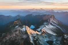 Sunrise in the North Cascades, Washington State photo by Bryan Daugherty