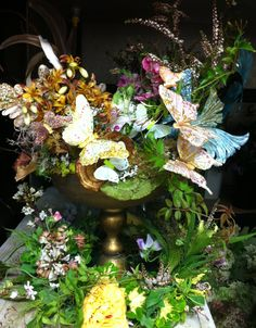 Midsummer nights dream theme party centerpiece  a whimsical fairy land !