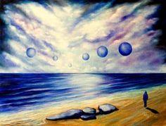"Saatchi Art Artist Giuseppe Alberto Regoli; Painting, ""Sunset of the seven moons"" #art"