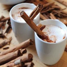 Double Hot Chocolate by Ina Garten.rich and delicious Double Hot Chocolate by Ina Garten. Slushies, Yummy Drinks, Yummy Food, Healthy Food, Rum Cocktail Recipes, Drink Recipes, Cocktails, Chocolate Caliente, Cinnamon Recipes