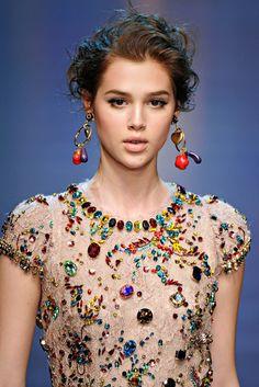 Dolce & Gabbana Spring 2012 - Sew on glass beads?