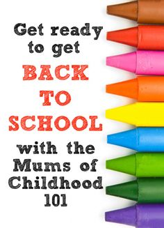 Tips and hints for Heading Back to School from the Mums of Childhood 101 School Organisation, Starting School, School Routines, Back To School, School Stuff, Get Back, Play To Learn, Denial, Homeschool