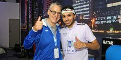 26-year-old Abdulla Mood Al Tamimi says Aussie legend Geoff Hunt was the deciding factor in his decision to choose squash over football. - www.psaworldtour.com/news/view/7654/tamimi-reveals-hunt-convinced-him-to-choose-squash-over-football - #squash #doubledotsquash #psaworldtour #qatarsquash #qatar #psasquash #prosquash Train Group, Double Dot, Red Beach, Ways Of Learning, New View, Best Player, Looking Forward To Seeing, Total Body, How To Introduce Yourself