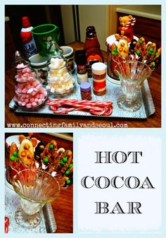 Connecting Family and Seoul: {New Christmas Tradition} Hot Cocoa Bar ~ set it up in your kitchen and keep it out the entire holiday season!