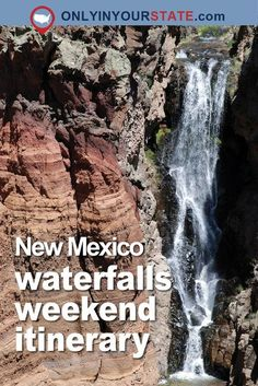 Tips for a waterfall road trip in New Mexico. New Mexico Road Trip, Roswell, New Mexico Vacation, Travel New Mexico, Mexico Trips, Red River New Mexico, New Mexico Camping, New Mexico Style, Falling Waters