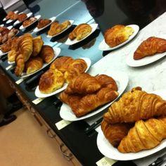 Test Kitchen now: Croissant taste test!! @davanmaharaj @kyoshino @thejgold @bettyhallock