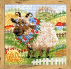 The Farm: Lamb da RIOLIS - Happy Bee - Kit Ricamo - Casa Cenina