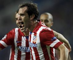 Foto Grada 360 - Godín celebrando el empate - Atlético de Madrid
