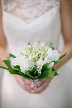 lily of the valley and sweet pea bouquet | Ashley Seawell #wedding