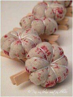 Pincushion on clothes pin
