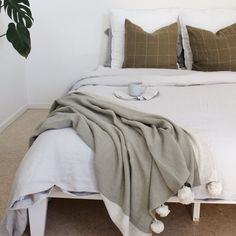 Soft Grey Bedroom, Linen Bedroom, Linen Duvet, Grey Duvet, Linen Sheets, Good Sleep, Duvet Cover Sets, Luxury Bedding, Shabby