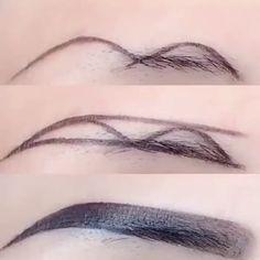 Eyebrow Makeup Tips, Permanent Makeup Eyebrows, Eye Makeup Steps, Grunge Makeup Tutorial, Makeup Looks Tutorial, Eyebrow Design, Dark Skin Makeup, Makeup Techniques, Makeup Brushes