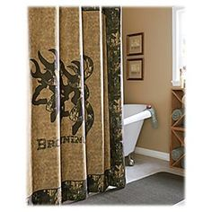 Browning Buckmark Shower Curtain B Pro S