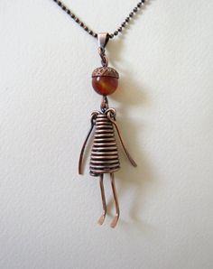 Rame Thumbeline Little Girl ciondolo/collana di GloriousFrog