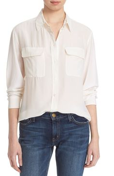 EQUIPMENT 'Signature' Silk Shirt. #equipment #cloth #