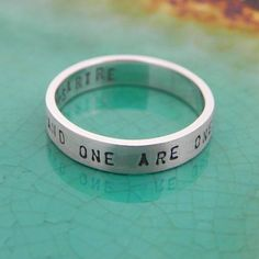 Customised Quote Promise Rings