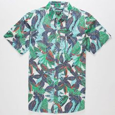 RVCA Jungle Leaves Mens Shirt