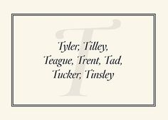 The preppiest names from A to Z
