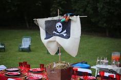 "Photo 2 of Pirate Birthday Boy / Birthday ""Captain Jax's Birthday"" Leo Birthday, Pirate Birthday, Pirate Theme, 4th Birthday Parties, Birthday Ideas, Pirate Party Decorations, Bachelorette Party Decorations, Pirate Centerpiece, Pirate Crafts"
