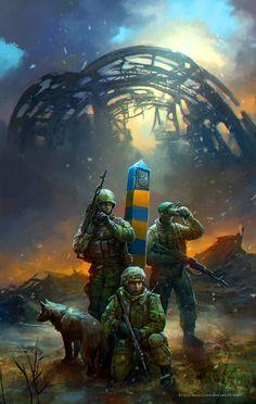 Ukrainian forces guarding the border and the tragedy of Malaysian flight 17, Ukrainian Crisis