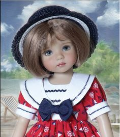 """""""ANCHORS AWAY"""" by Tauni for 13"""" Dianna Effner Little Darling Doll  #unbranded"""