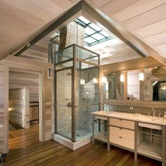 bathroom | mell lawrence architects: baylor street house