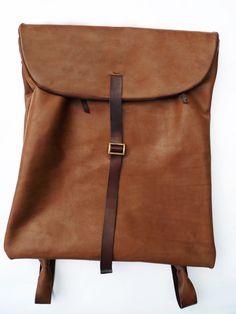 Nutsa Modebadze leather backpack