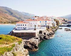Visiting Greece in Condé Nast Traveller reveals the 23 best Greek Islands to visit, including Santorini, Crete, Mykonos, Corfu and Rhodes Corfu, Andros Greece, Greek Islands To Visit, Best Greek Islands, Mykonos, Santorini, Island Beach, Greece Travel, Hiking Trails