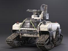 ArtStation - US Military RC machine gun, Dmitry Kozachkov Military Robot, Military Armor, Military Guns, Futuristic Armour, Futuristic Cars, Army Vehicles, Armored Vehicles, Autonomous Robots, Robot Design