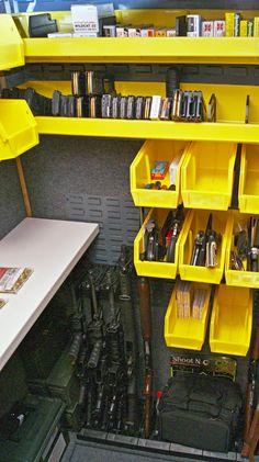 Ammo Storage, Weapon Storage, Gun Safe Room, Gun Closet, Home Theater Room Design, Reloading Room, Indoor Shooting Range, Man Cave Office, Gun Rooms