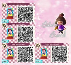 Snow white - Schneewittchen - - Fotowand - Bilderwand - faceboard - photo stand - Animal Crossing New Leaf - ACNL - QR - Broesel