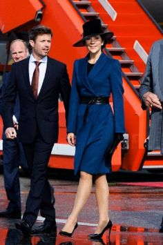Crown Prince Frederik and Crown Princess Mary in Copenhagen airport, 18 Sep 2013
