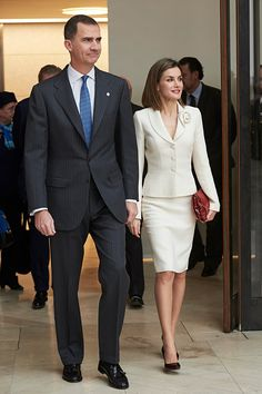 King Felipe VI & Queen Letizia attend a meeting of the Board of Patronage of the Prado Museum at Museo del Prado on February,16, 2016 in Madrid, Spain.