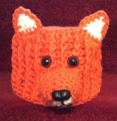 FOX hand crochet toilet roll cover. Lovely gift.