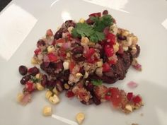 Grilled Skirt Steak with Black Bean and Quinoa Salsa