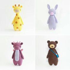 Crochet patterns by Little Bear Crochets: www.littlebearcrochets.com ❤️ #littlebearcrochets #amigurumi
