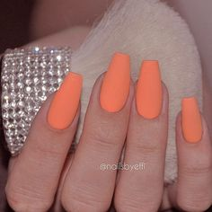 Delicate Matte Peach Color Is Perfect For Coffin Nails ❤ 40+ Magnificent Coffin Nails Designs You Must Try ❤ See more ideas on our blog!! #naildesignsjournal #nails #nailart #naildesigns #coffinnails #nailshapes #coffins #ballerinanails Aycrlic Nails, Nude Nails, Manicure And Pedicure, Hair And Nails, Fancy Nail Art, Fancy Nails, Cool Nail Art, Summer Acrylic Nails, Best Acrylic Nails