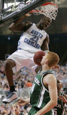 jawad williams unc  | North Carolina's Jawad Williams dunks over Michigan States ' Drew ...