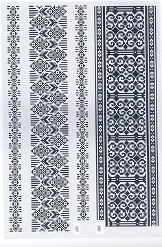 Beading _ Pattern - Motif / Earrings / Band ___ Square Sttich or Bead Loomwork ___ Knitting Charts, Knitting Patterns, Cross Stitch Embroidery, Cross Stitch Patterns, Knit Stranded, Willow Weaving, Machine Embroidery Patterns, Cross Stitch Flowers, Brick Stitch