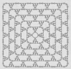 Diagrama de cuadro de la abuela crochet
