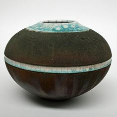 Chris Harford raku vessel