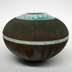 Chris Harford raku vessel