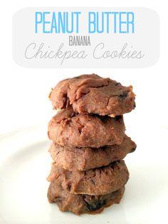Peanut Butter Banana Chickpea Cookies
