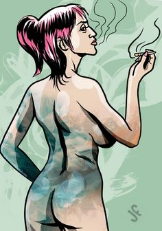 Maka Nnabis #cannabis #smoke #beatiful girl #redhair