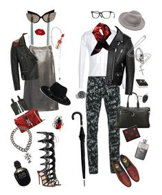 """Без названия #22"" by pankovayuliya on Polyvore featuring Yves Saint Laurent, Maison Michel, Glam Rock, Dolce&Gabbana, Gucci, 99%IS, Alexander McQueen, Christian Louboutin, Givenchy и title of work"
