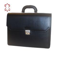 Kožená aktovka z pravej hovädzej kože č.8418 v čiernej farbe (1) Suitcase, Notebook, Business, Leather, Store, Business Illustration, The Notebook, Briefcase, Exercise Book