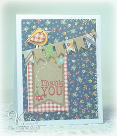 Verve_With_Love_Birdie_copy Stamps: With Love (Verve Stamps) Accessories: Pennant Trim Die (A Cut Above by VERVE)