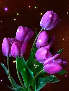 Glitter tulips