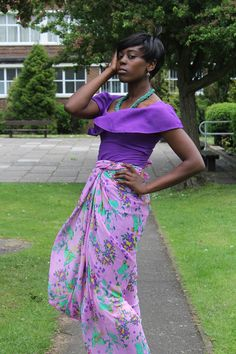 Fabric Express Summer Purple Iro and Buba on Etsy, £40.00