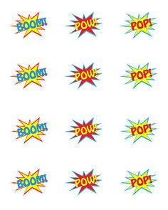 Superhero Party {FREE} Printables